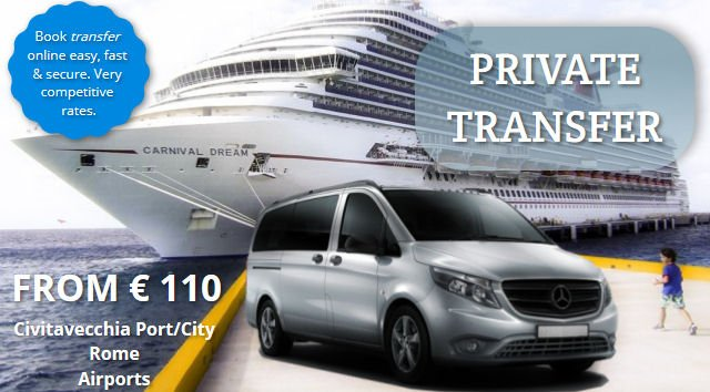 civitavecchia, rome airport transfer